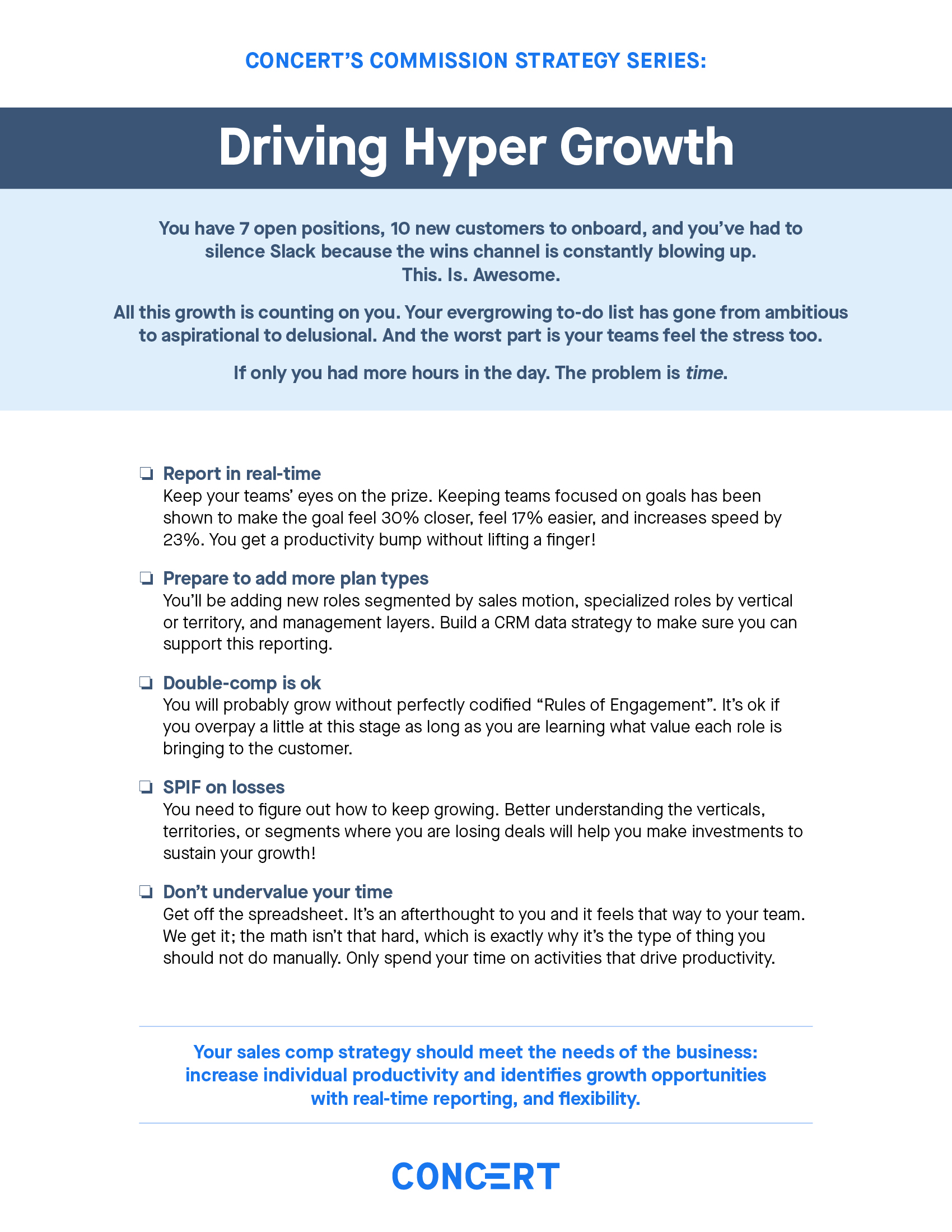 Commission Strategy: Driving Hyper Growth