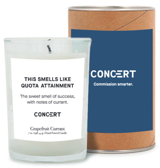 This Smells Like Quota Attainment Candle sales gift ideas